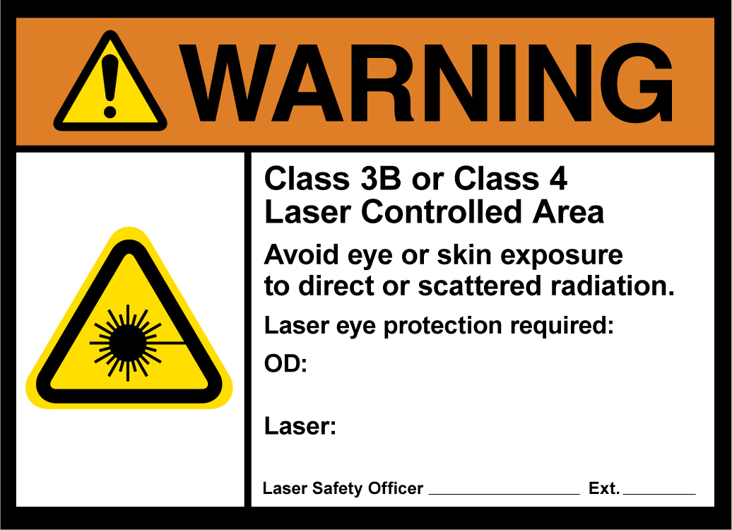 Laser Safety Signs | laservision USA